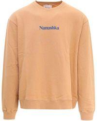 Nanushka Cotton Sweatshirt - Orange