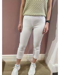SteHmann Loli Slim Trouser - White
