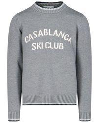 CASABLANCA Wool Sweater - Gray