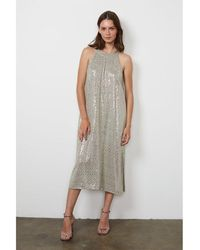 Velvet Yasmeen Sequin Dress Melange - Metallic