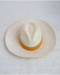 Beaumont Organic Fedora Hat With Sun Trim - White