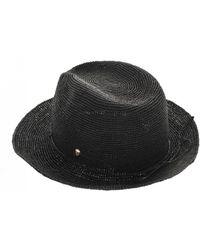Helen Kaminski - Fai Hat In Charcoal - Lyst