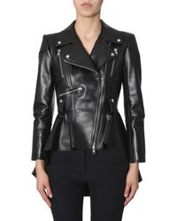 McQ - Flared Biker Jacket - Lyst