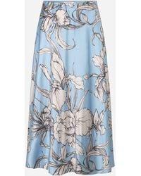 Munthe Tacuba Floral Skirt Ice Blue