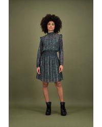 POM Amsterdam Starry Night Dress - Violet - Green