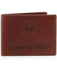 La Martina Leather Coin Wallet Colour: Brown