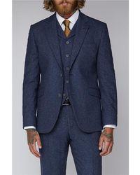 Gibson London Tweed Suit Jacket - Blue
