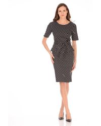 Boutique Moschino Polka Dot Dress - Black