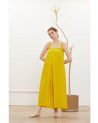 Black Crane Wide Sweater | Mustard - Yellow