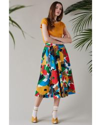 Emily and Fin - Sandy Painted Floral Circle Skirt - Lyst