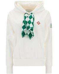 CASABLANCA Wf21jtp028brightwhit Other Materials Sweatshirt - White