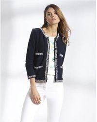 Basler Navy Jersey Jacket 2201800901 - Blue