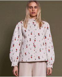 Stella Nova Mable Cherries Top - White
