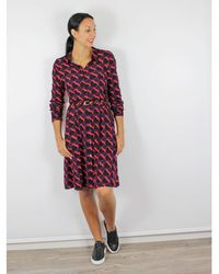 FABIENNE CHAPOT - Shirt Dress Black Red Heart Print - Lyst