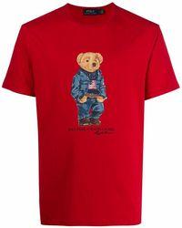 Ralph Lauren Men's 710795737004 Red Cotton T-shirt
