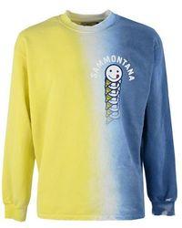 Berna Cotton Sweatshirt - Blue