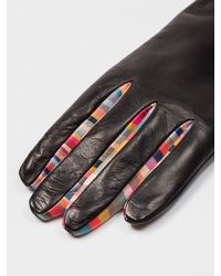 Paul Smith Concertina Swirl Leather Gloves W1a-461e-ag931-79 - Black