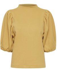 Ichi Tesha Moss Sweatshirt - Yellow