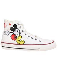 MOA Moa Fabric Hi Top Sneakers - White