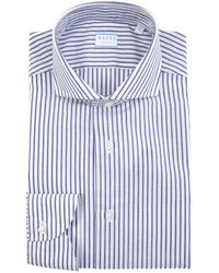 Xacus Shirt In Blue - White