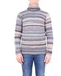 Altea - Sweater Men Gray And Beige - Lyst