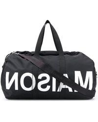 MM6 by Maison Martin Margiela Reverse Logo Holdall (large) - Black