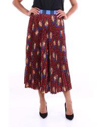 Stella Jean Patterned Long Burgundy Skirt - Red