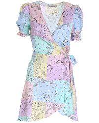 Mc2 Saint Barth Grace Multicolor Dress - Blue