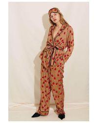 Underprotection Lola Pyjama Trousers - Brown