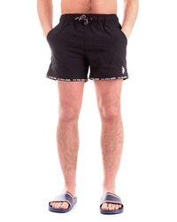 U.S. POLO ASSN. Men's 5180552161nero Black Polyester Trunks