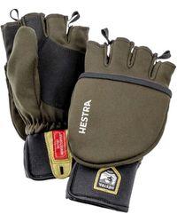 Hestra Windstopper Pullover Mitt Glove Dark Forest - Green