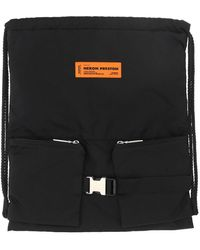 Heron Preston Women's Hwnb007r21fab0011000 Black Other Materials Shoulder Bag