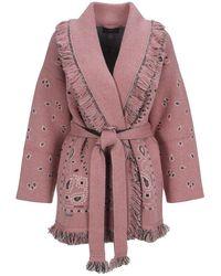Alanui Bandana-jacquard Cardi-coat - Pink