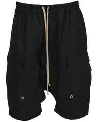 Rick Owens Drop-crotch Shorts - Black