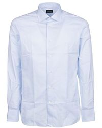 Ermenegildo Zegna Men's 6039029ms0ji Light Blue Cotton Shirt