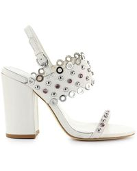 Ash Lucy Heeled Sandal - White