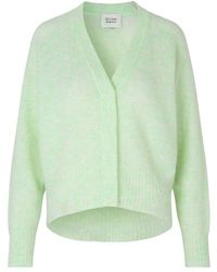Second Female Brook Knit Boxy Cardigan - Green