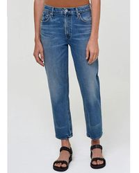 Citizens of Humanity Marlee High Rise Relaxed Taper Jeans - Blue