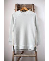 Varley Gray Mint Manning Ribbed Sweatshirt
