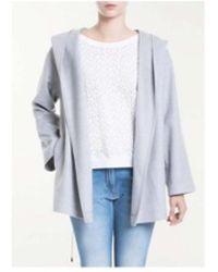 Fabiana Filippi Woolen Hooded Parka Coat - Gray
