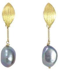 Alison Fern Jewellery Rita Earrings - Metallic