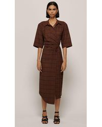 Nanushka Lais Dress Rust - Brown
