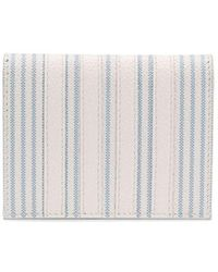 Thom Browne Men's Maw218a06297475 White Leather Wallet