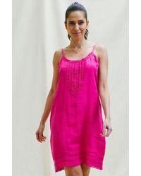 Aspiga Cayo Premium Linen Sundress | Fuchsia - Pink