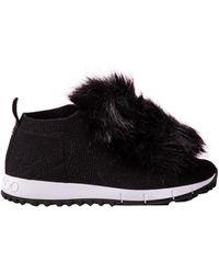 Jimmy Choo - Fur Trim Norway Sneakers - Lyst