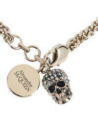 McQ Pavè Skull Bracelet - Metallic