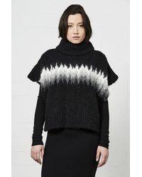 Thom Krom Thom/krom Aw21 W K 122 Pullover Knit Jacquard - Black