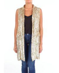 P.A.R.O.S.H. Vest Women Gold - Metallic