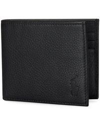 Ralph Lauren Leather Billfold Wallet , - Black