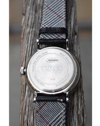 Timex Fairfield Black Leather Watch